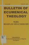 Volume 14 — Nigeria: Religion and Conflict Resolution