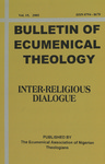Bulletin of Ecumenical Theology -- Inter-Religious Dialogue Volume 15