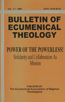 Bulletin of Ecumenical Theology -- Power of the Powerless! Solidarity and Collaboration as Mission Volume 17