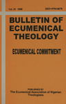 Bulletin of Ecumenical Theology -- Ecumenical Commitment Volume 20