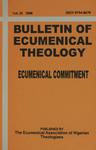 Bulletin of Ecumenical Theology -- Ecumenical Commitment Volume 20