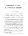 Sainte Thérèse de l'Enfant-Jésus et le vénérable père Libermann Libermann