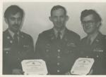Col. Bambery Presents ROTC Scholarships to Kevin Altomari and Gary Jong